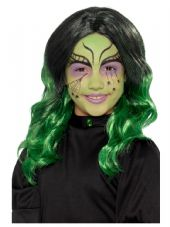 Kids Green Witch Wig